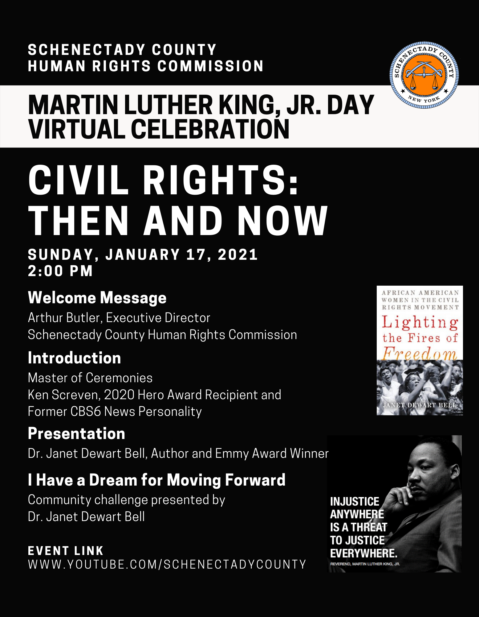 2021 MLK Day Event Flyer
